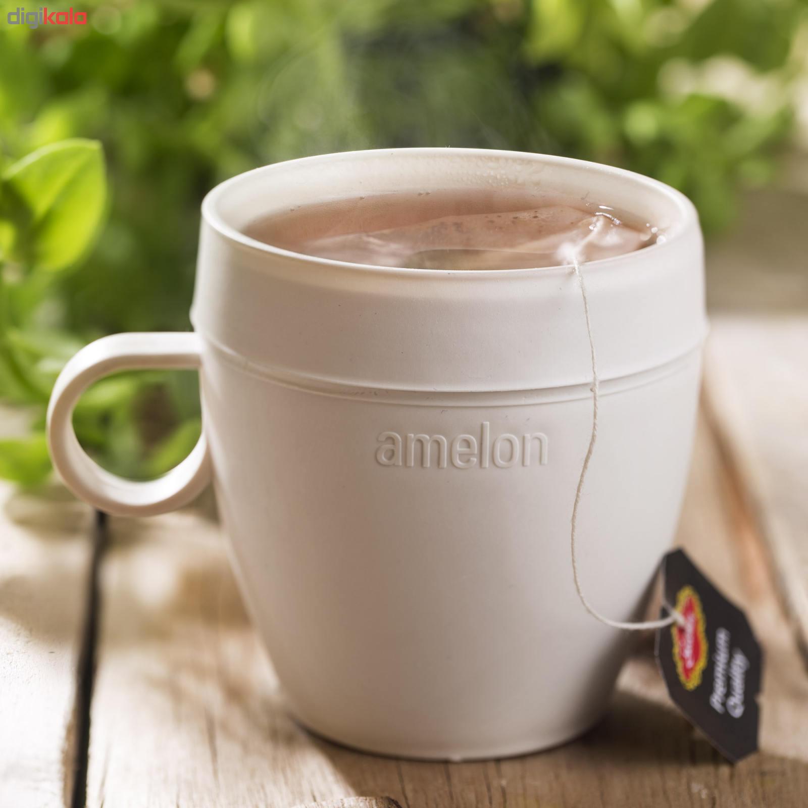 خرید اینترنتی فنجان یکبار مصرف آملون مدل AML-FEN-2+24 بسته 24 عددی به همراه 2 پایه فنجان