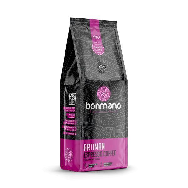 بررسی و خرید فوری قهوه اسپرسو بن مانو مدل آرتیمان وزن 250 گرم