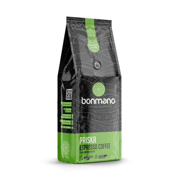 خرید ارزان قیمت قهوه اسپرسو بن مانو مدل پریسکا 250 گرمی