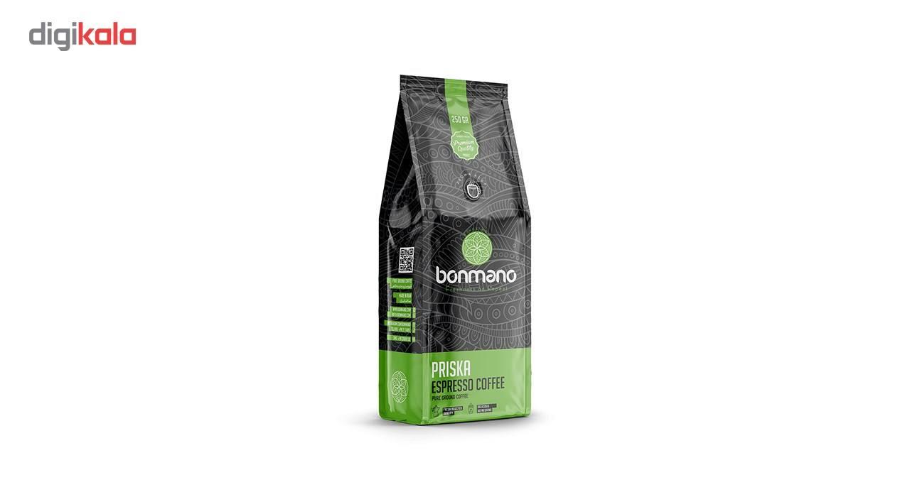 بررسی و خرید فوری قهوه اسپرسو بن مانو مدل پریسکا 250 گرمی
