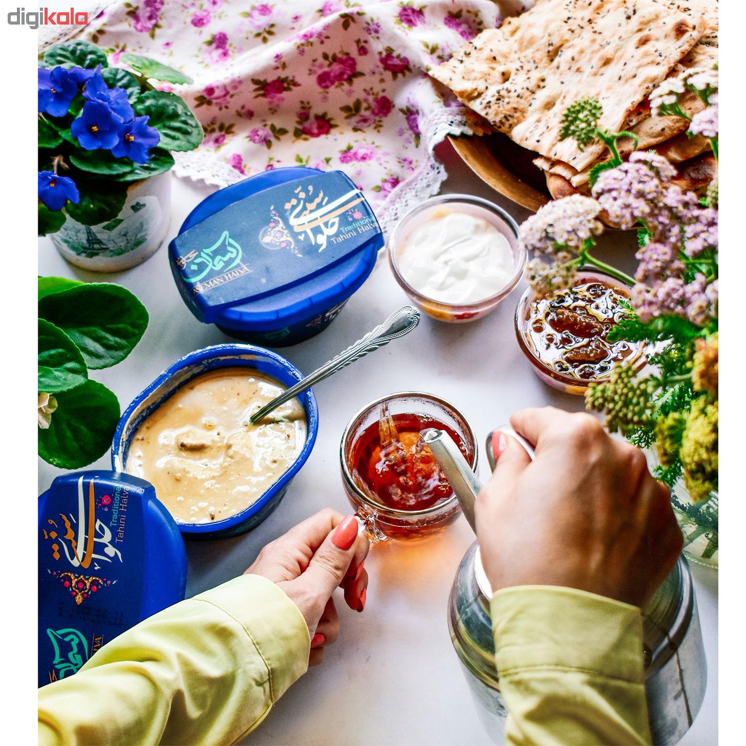 خرید فوری و ارزان قیمت حلوا ارده سنتی آسمان - 450 گرم